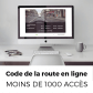 Code de la route en ligne (- de 250 collaborateurs)