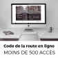 Code de la route en ligne (- de 500 collaborateurs)