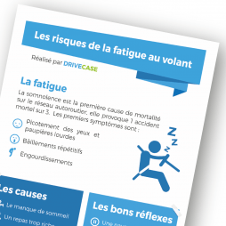 Flyer de sensibilisation - les risques de la fatigue au volant