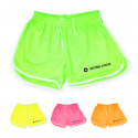 Short en polyester fluorescent mixte