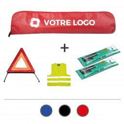 Kit automobile obligatoire (triangle, gilet, éthylotests)