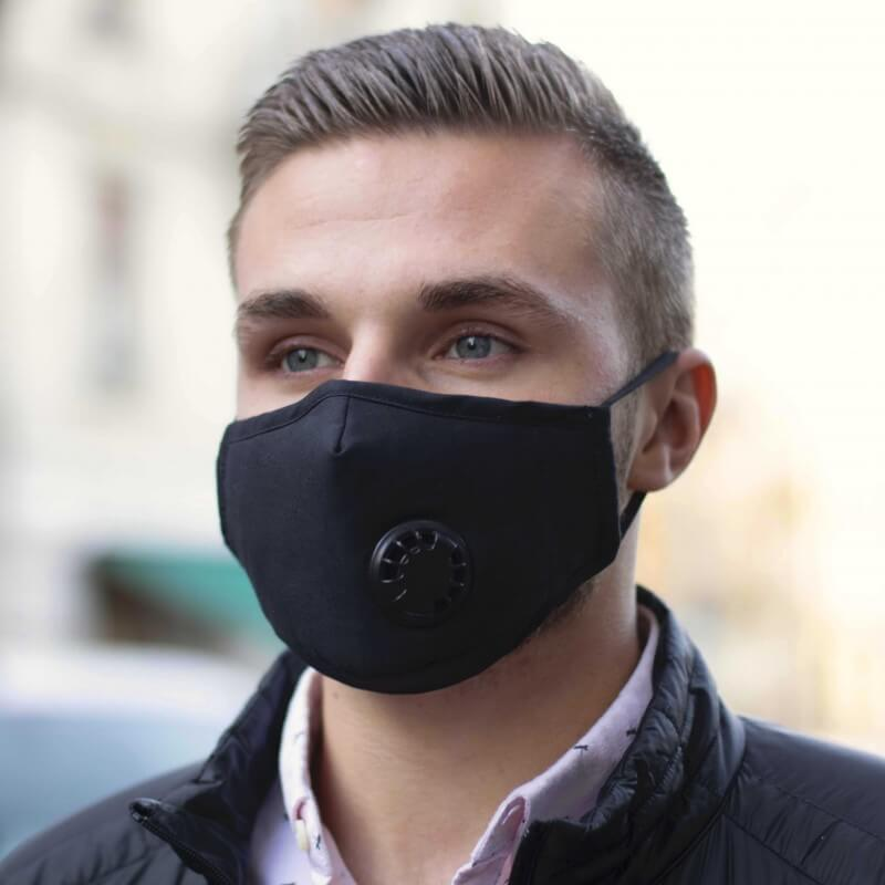 masque moto pollution