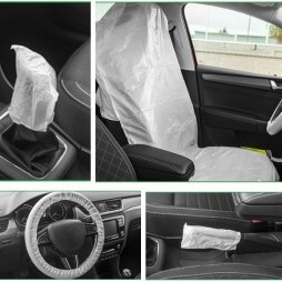 Kit de protection voiture 5 en 1 jetable
