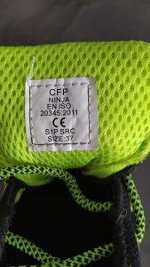 Normes de chaussures de sécurité 256