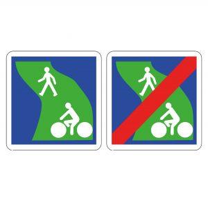panneau cyclistes C115 C116