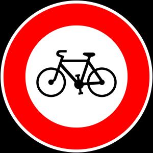 panneau interdiction cycliste