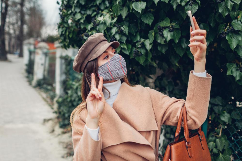 Masque tissu personnalisé original et design