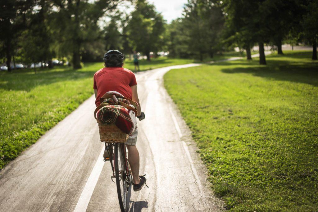 vélo et santé, vélo sur piste cyclable