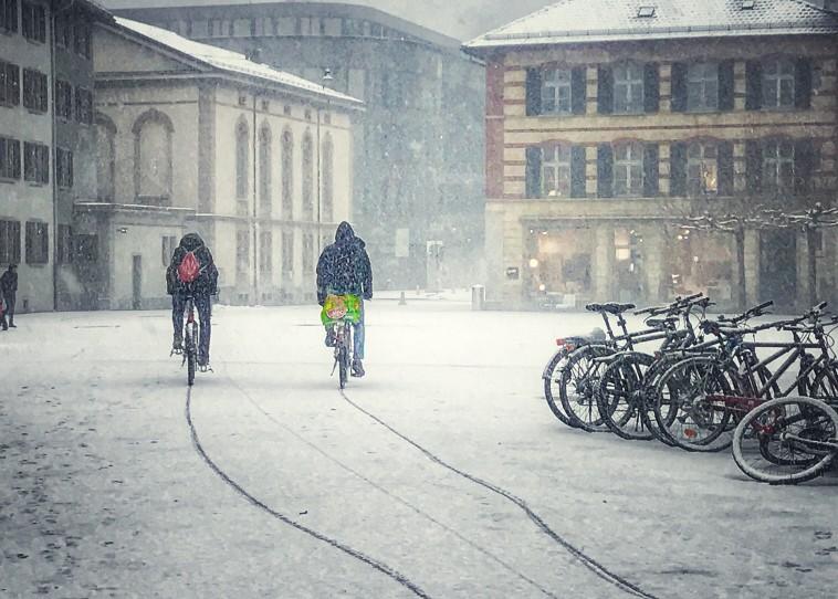 vélo et santé, vélo sous la neige